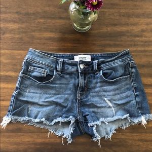 Victoria Secrets Pink Cut Off Jean Shorts
